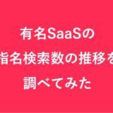 有名SaaSの指名検索数の推移を調べてみた